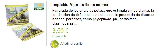 fungicida para la Phytophthora de las coníferas